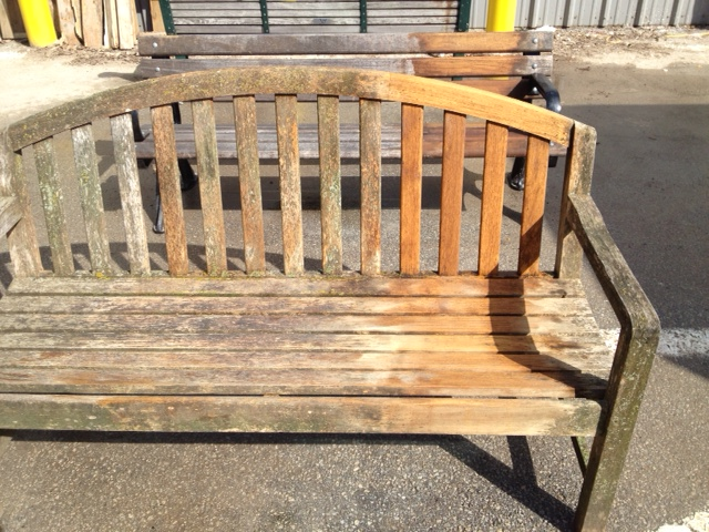 Park bench treated with Proclean