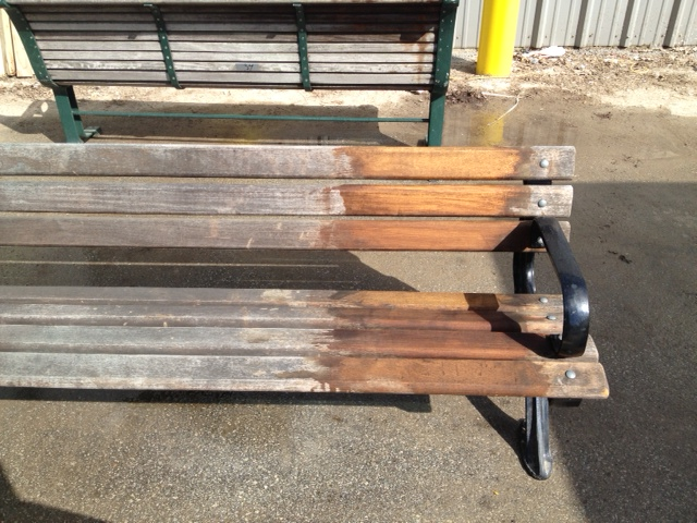 Park benches cleaned with Proclean